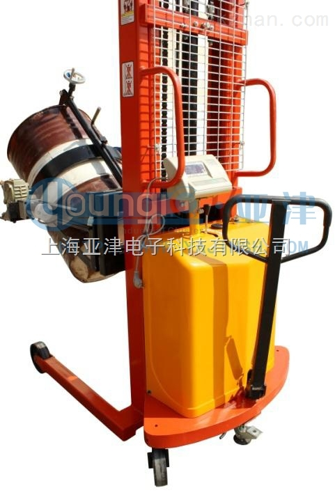 供应亚津半自动倒桶秤 上海抱式油桶秤厂家地址