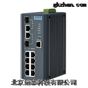 EKI-7710E-2C研华两光八电网管型工业交换机