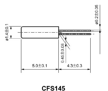 西铁城石英水晶振子,cfs-145晶振
