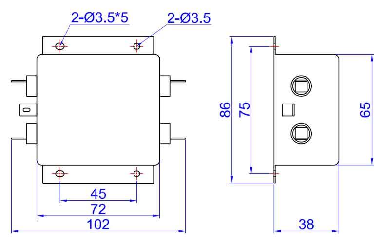 e封装高性能交流电源滤波器