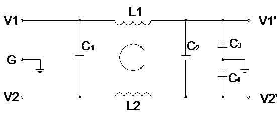 一级直流电源滤波器