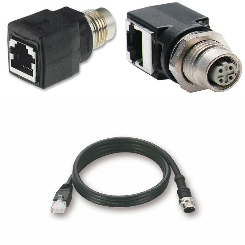 对于以太网网络,必须符合防护等级IP67/IP68,M12插头代表RJ45吸引力的替代 - 往往更适合。M12与D编码4PIN插头已经被定义为一个工业以太网标准(IEC 61076-2-101)。M12连接技术是建立在传感器,执行机构和现场总线布线,并提供了一??些优势,在工业环境中。