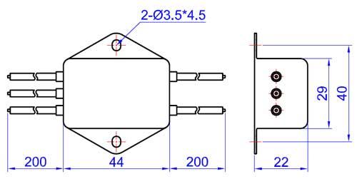 fdub-3w 增强型直流电源滤波器  50ω测量系统,gb7343/cispr no.